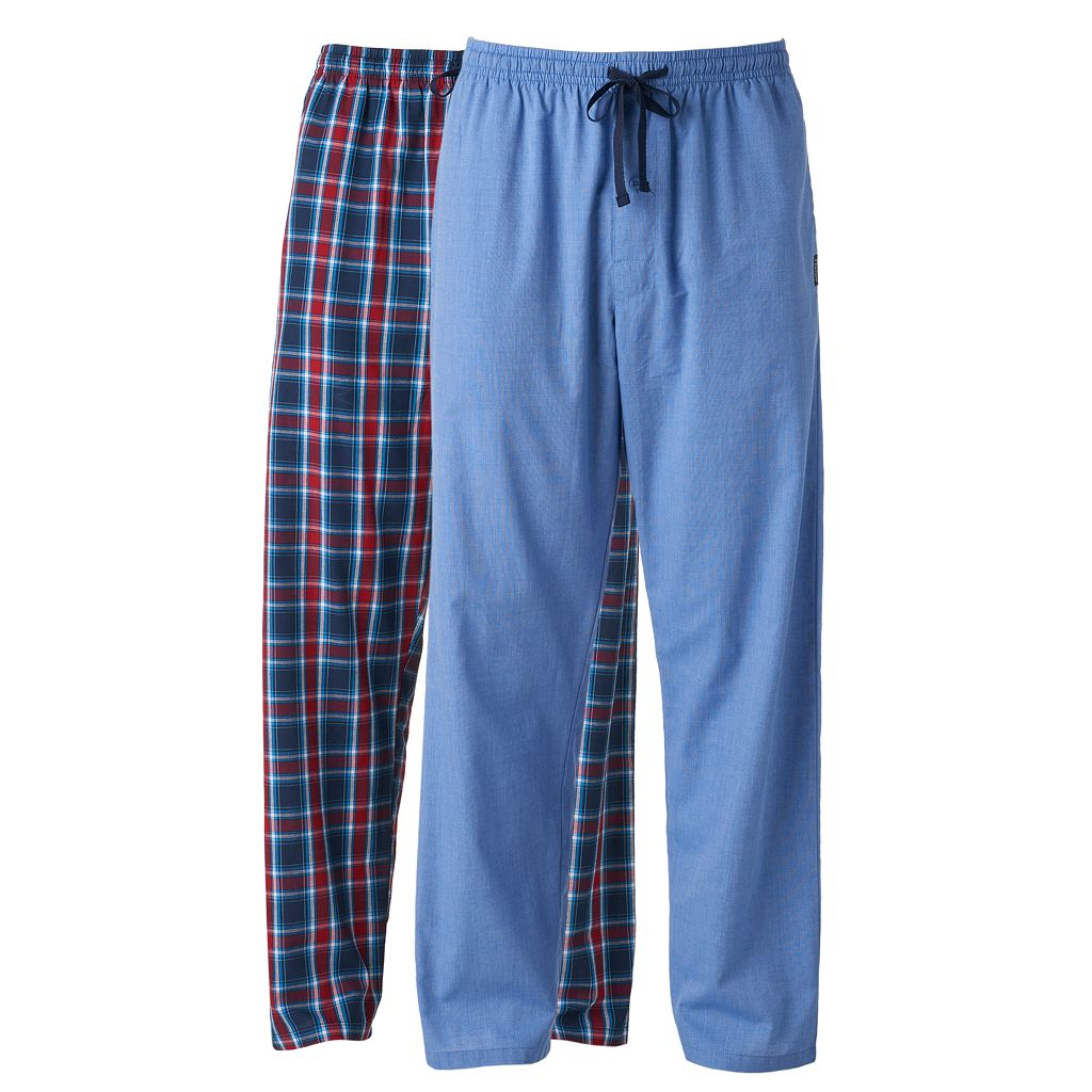 Big & Tall Hanes 2-pack Plaid Woven Lounge Pants