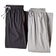 Hanes 2-pk. Solid Knit Lounge Pants - Big and Tall