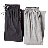 Big & Tall Hanes 2-pk. Solid Knit Lounge Pants