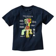 Minecraft Creeper Anatomy Tee - Boys 8-20