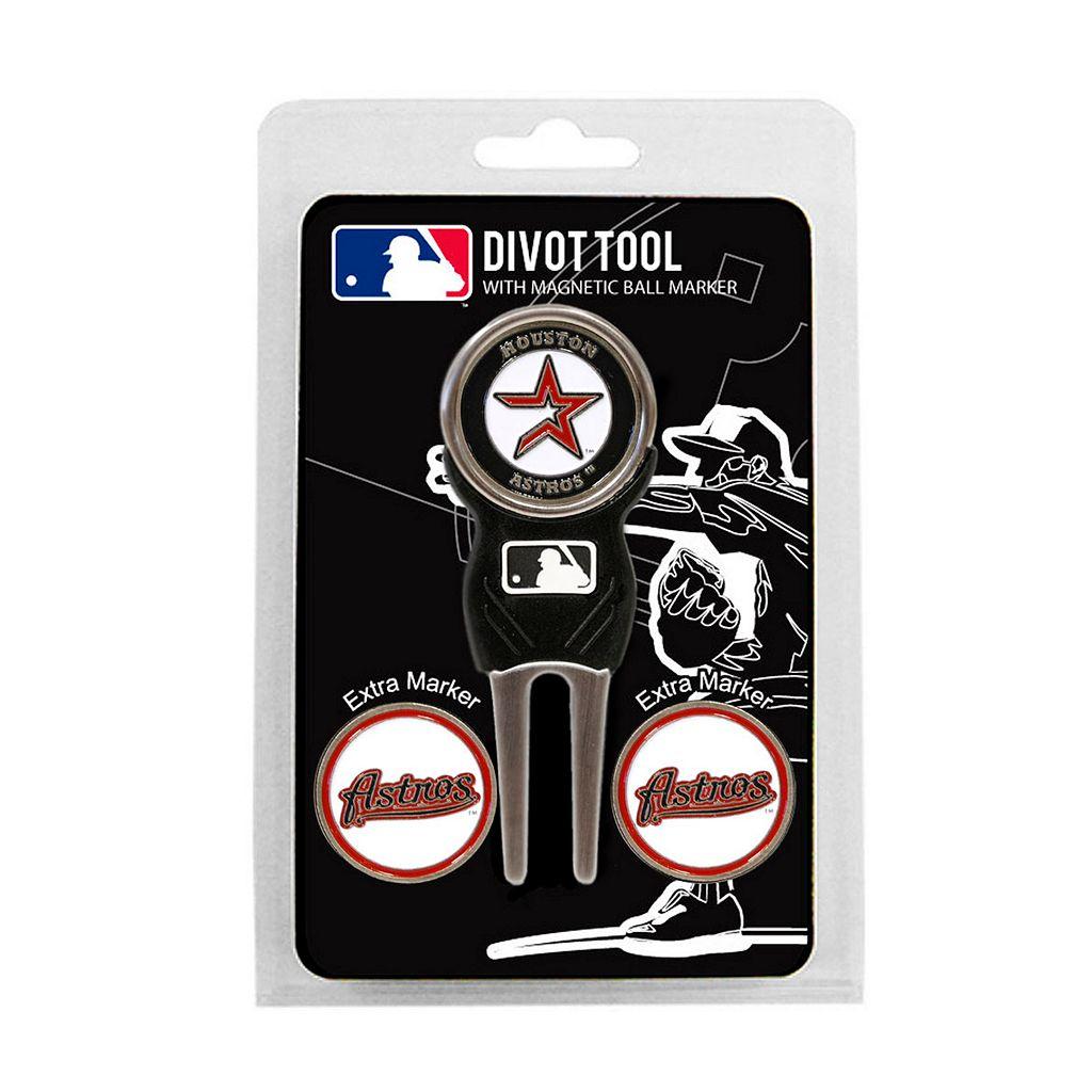 Team Golf Houston Astros 4-pc. Divot Tool & Ball Marker Set