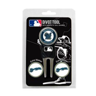 Team Golf Milwaukee Brewers 4-pc. Divot Tool and Ball Marker Set
