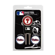 Team Golf Philadelphia Phillies 4 pc Divot Tool & Ball Marker Set