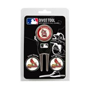 Team Golf St. Louis Cardinals 4 pc Divot Tool & Ball Marker Set