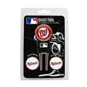 Team Golf Washington Nationals 4 pc Divot Tool & Ball Marker Set