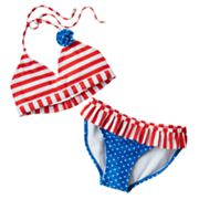 SO Striped and Star 2-pc. Halter Bikini Swimsuit Set - Girls 7-16
