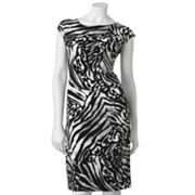 Apt. 9 Zebra Ruched Sheath Dress