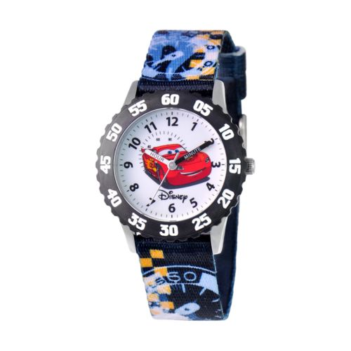 Disney / Pixar Cars Lightning McQueen Stainless Steel Time Teacher Watch - Kids