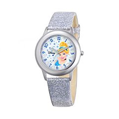 Disney Princess Cinderella Juniors' Leather Watch