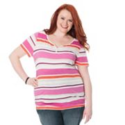 Oh Baby by Motherhood Striped Tee - Maternity Plus