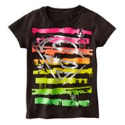 Supergirl Striped Tee - Girls 7-16