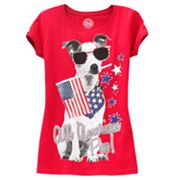 SO All American Pup Dog Tee - Girls Plus