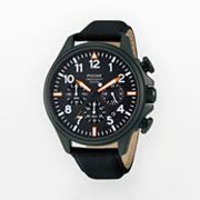 Pulsar Stainless Steel Black Ion Chronograph Watch - PT3299 - Men