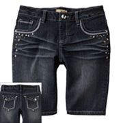 Mudd Bling Denim Bermuda Shorts - Girls 7-16
