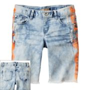 Mudd Tie-Dye Denim Bermuda Shorts - Girls 7-16