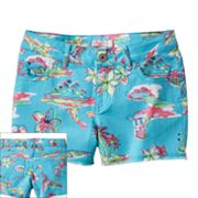 SO Tropical Denim Shorts - Girls Plus