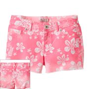 SO Floral Denim Shorts - Girls Plus
