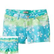 SO Floral Ombre Denim Shorts - Girls 7-16