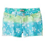 SO Floral Ombre Denim Shorts - Girls Plus