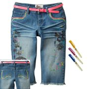 SO Doodle Denim Skimmer Pants - Girls 7-16
