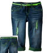SO Distressed Cuffed Denim Capris - Girls 7-16