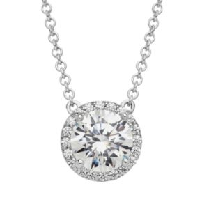 Emotions Sterling Silver Necklace - Made with Swarovski Zirconia