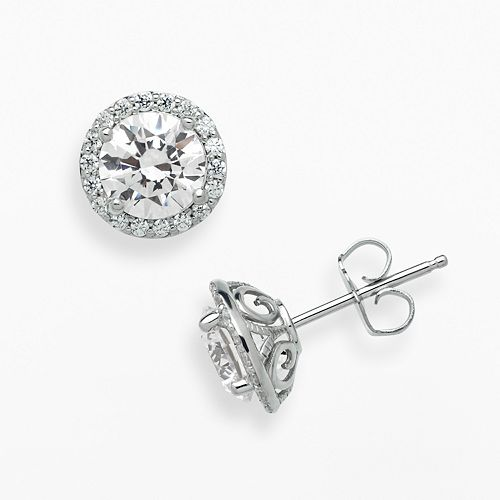 7942dd95e Emotions Sterling Silver Frame Stud Earrings - Made with Swarovski Zirconia