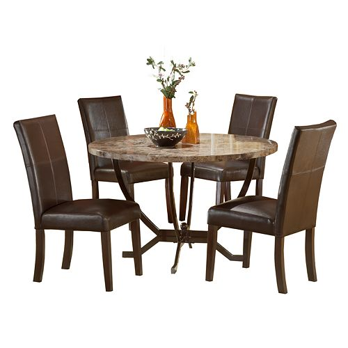 Monaco 5 Pc Dining Table And Chairs Set