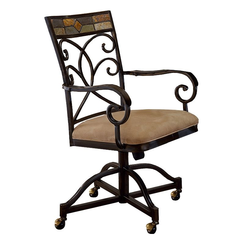 pompei 2 pc rolling dining chair set