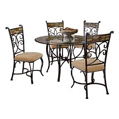 Pompei 5 pc Dining Table & Chairs Set