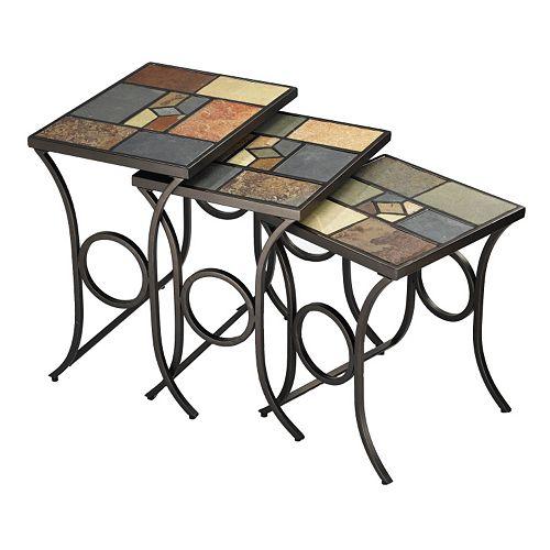 Pompei 3-pc Nesting Table Set