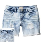 Mudd Bleached Splatter Denim Shorts - Girls Plus