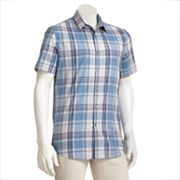 Axist Slim-Fit Plaid Stretch Casual Button-Down Shirt