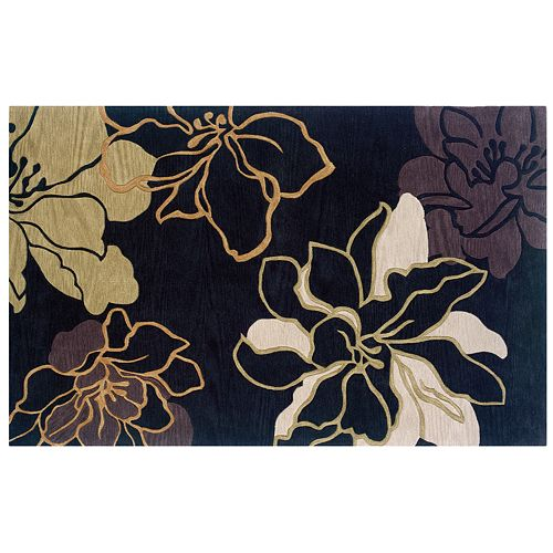 Linon Trio Floral Rug - 1'10'' x 2'10''