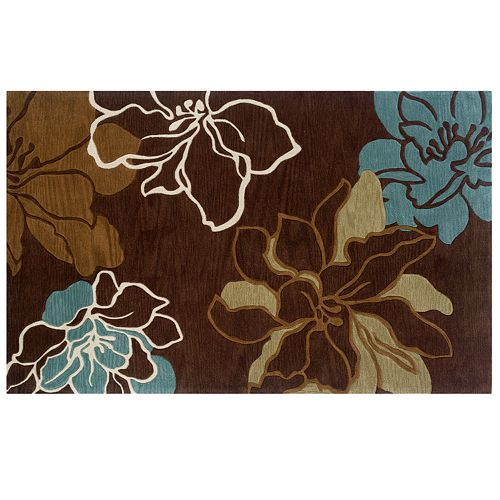 Linon Trio Floral Rug - 5' x 7'