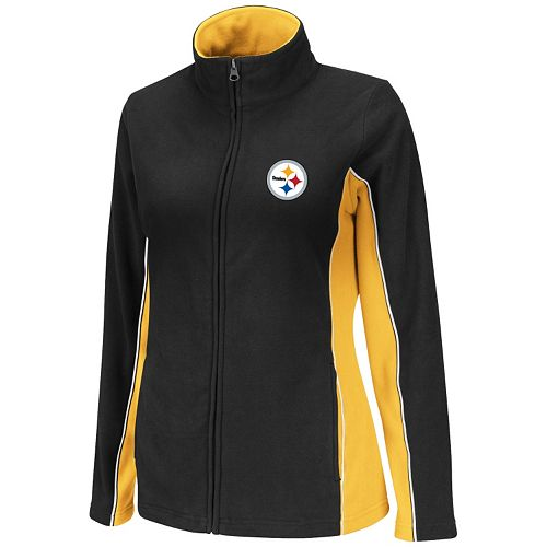 Top Women\'s Pittsburgh Steelers Game Theory V Fleece Jacket  free shipping nV4Zbdy8