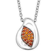 Lotopia Sterling Silver Marquise Pendant - Made with Swarovski Cubic Zirconia
