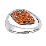 Lotopia Sterling Silver Marquise Ring - Made with Swarovski Cubic Zirconia
