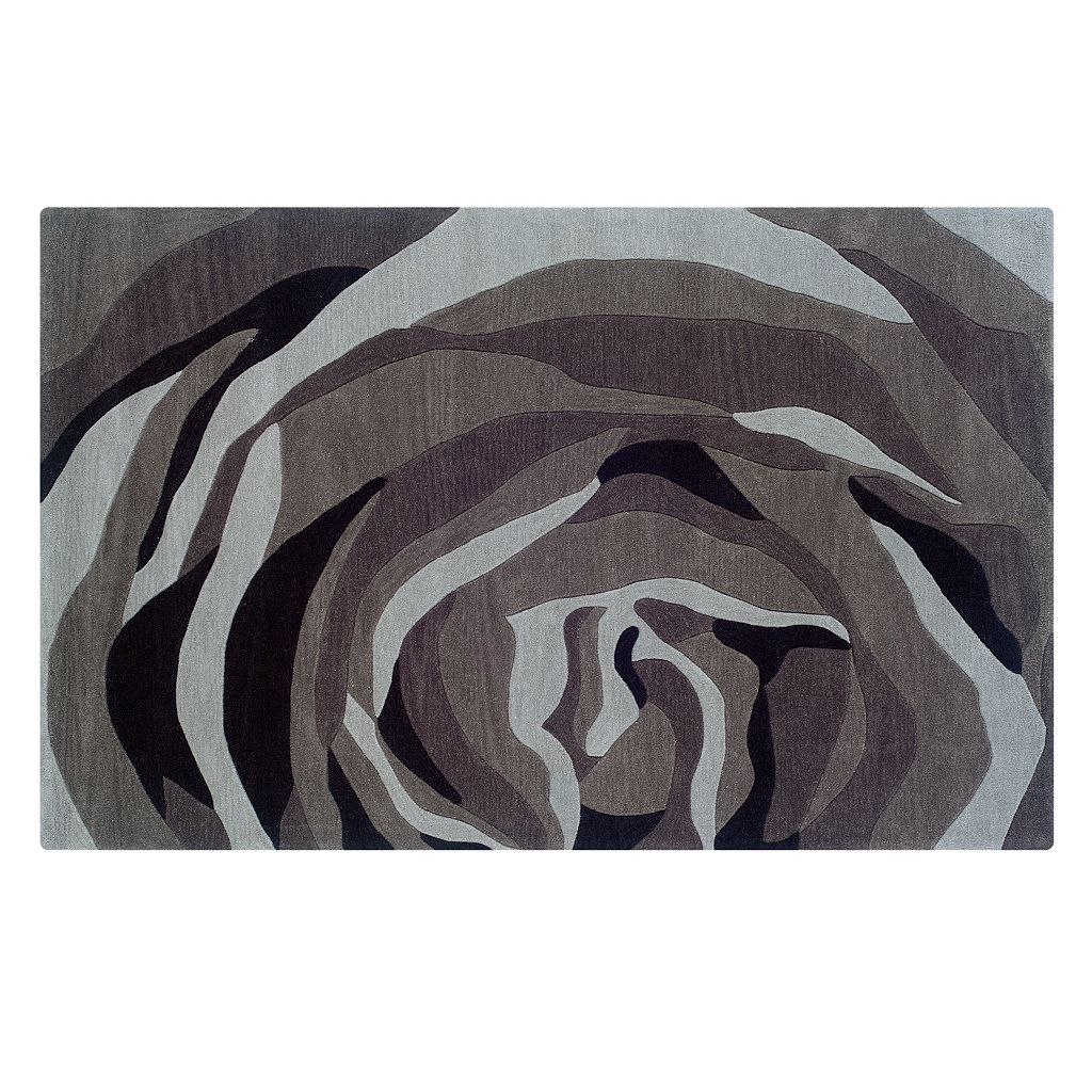 Linon Trio with a Twist Abstract Rug - 1'10'' x 2'10''