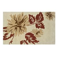 Linon Trio with a Twist Floral Area Rug - 5' x 7'