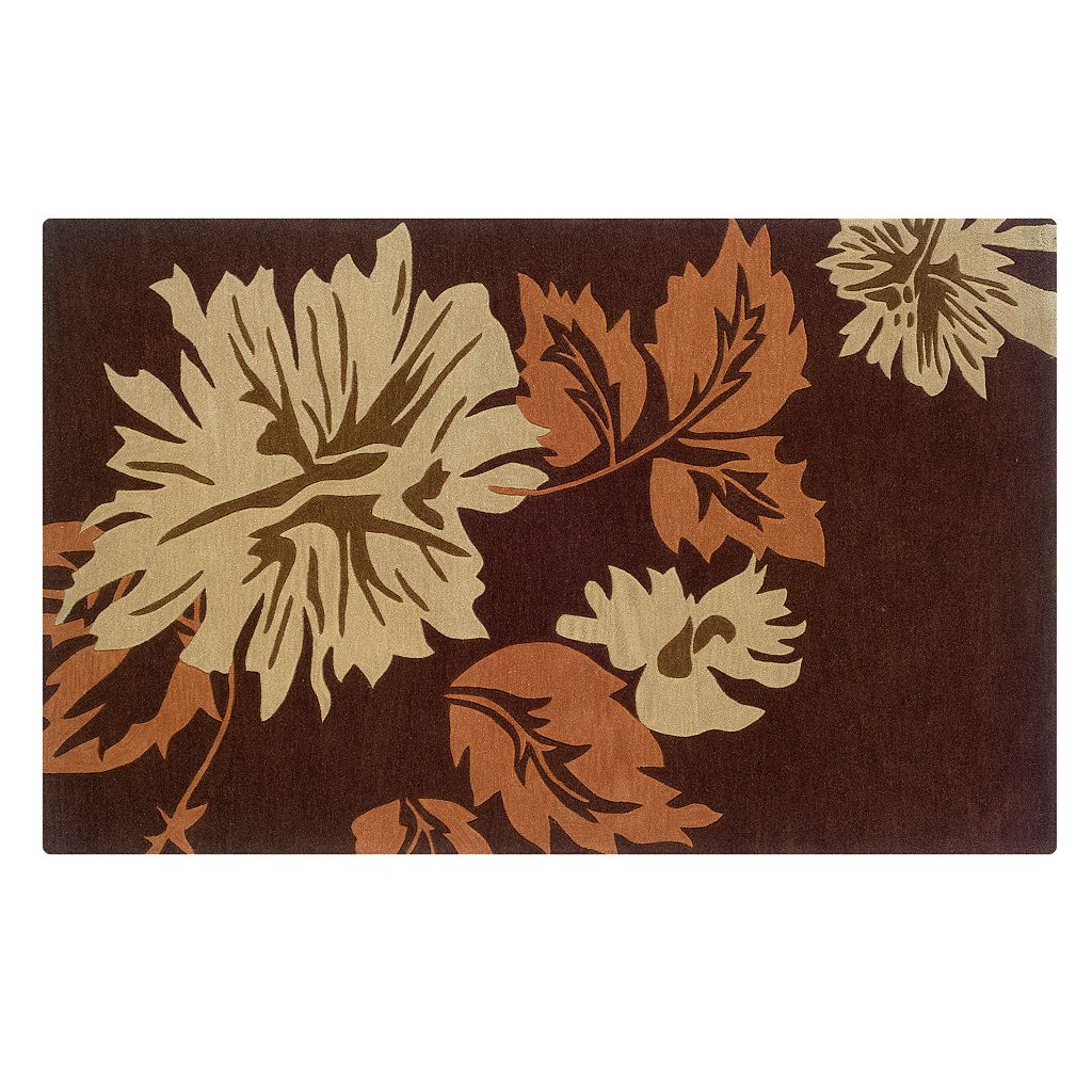 Linon Trio with a Twist Floral Area Rug
