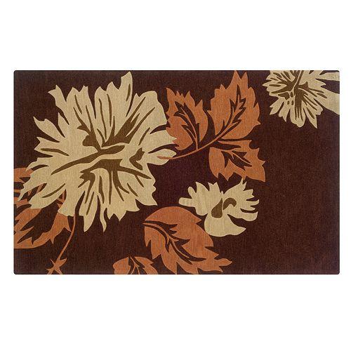 Linon Trio with a Twist Floral Area Rug
