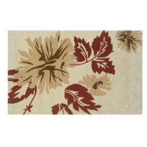 Linon Trio with a Twist Floral Area Rug - 8' x 10'