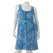 SONOMA life + style Chevron Smocked Empire Dress - Women's Plus