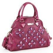 Nicole Lee Gabriela Gemstone Flower Dome Convertible Tote