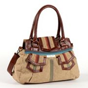 Nicole Lee Chase Striped Convertible Shoulder Bag