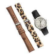 Timex Silver Tone Leopard Watch Set - UG0102TB - Women