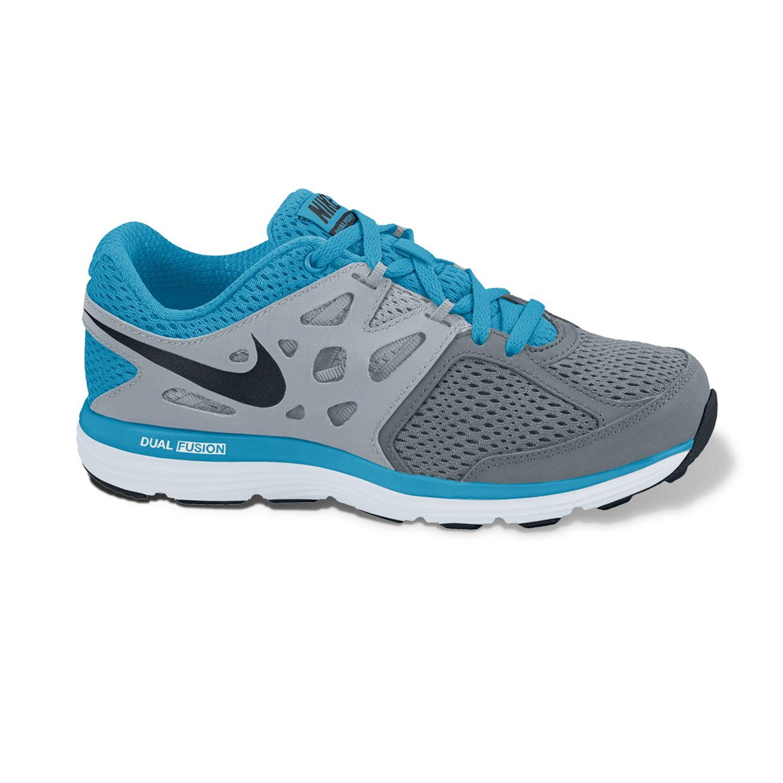 Nike Black Dual Fusion Lite Running Shoes - Grade School Boys