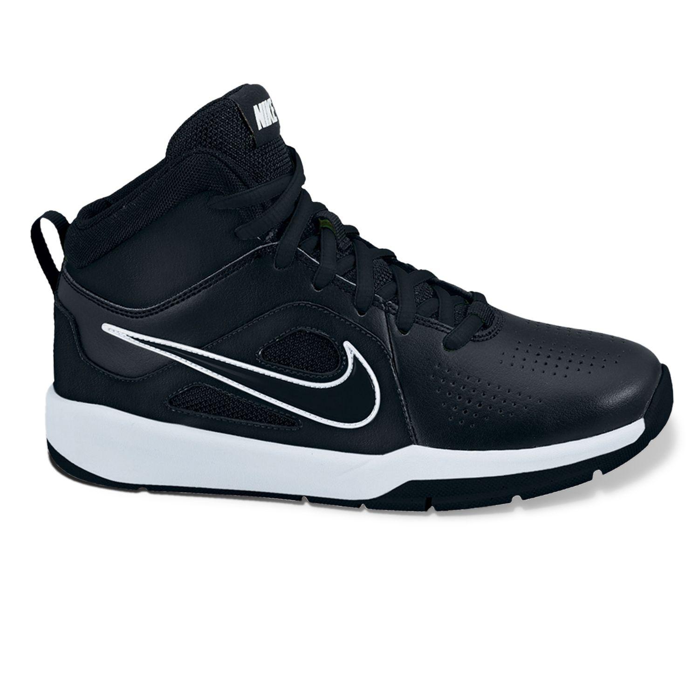 Nike Black Team Hustle D 6 Basketball Shoes - Grade School Boys