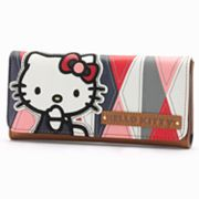 Hello Kitty Geometric Checkbook Wallet